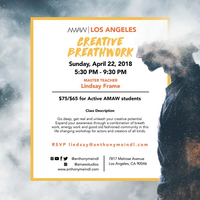 Creative Breathwork w/ Lindsay Frame - AMAW Los Angeles | Anthony ...